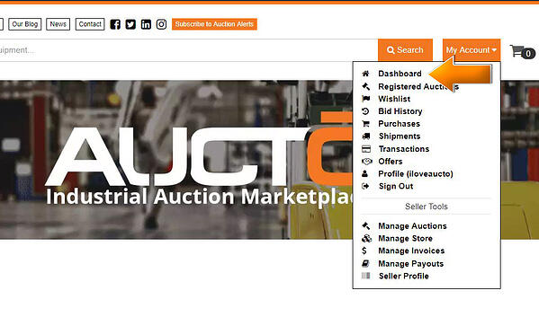 Aucto DashBoard