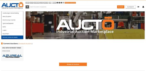 Aucto Homepage