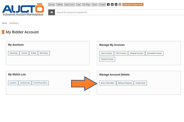 Manage Account Details
